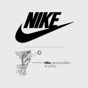 Tên thương hiệu Nike đặt theo tên nữ thần chiến thắng Hy Lạp.