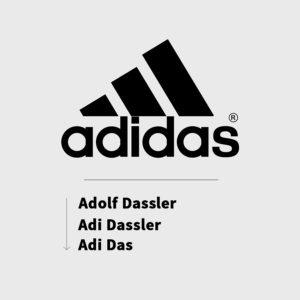 Tên Adidas theo tên ba người sáng lập